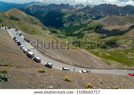 Col de la Bonette is a high mountain pass in the French Alps, near the border with Italy. It is situated within the Mercantour National Park on the border of the departments of Alpes-Maritimes and Alp #1108660757