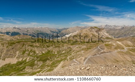Col de la Bonette is a high mountain pass in the French Alps, near the border with Italy. It is situated within the Mercantour National Park on the border of the departments of Alpes-Maritimes and Alp #1108660760
