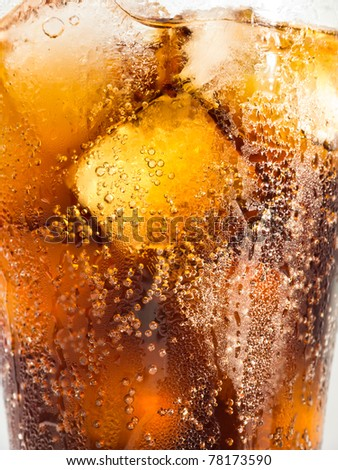 Cola and Ice Close Up