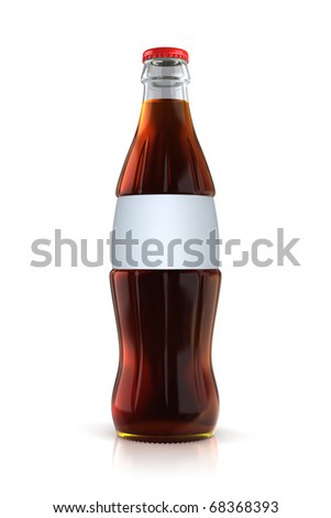 cola bottle (clipping path)