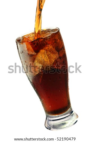 cola pouring