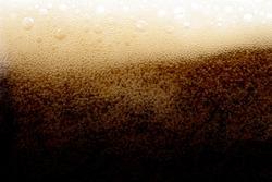 Cola soda splash beverage drink foam bubble in glass texture background
