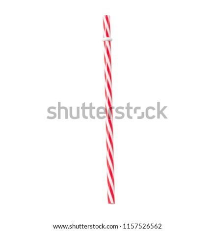 cola straw on isolated white background #1157526562