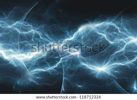 cold abstract lightning