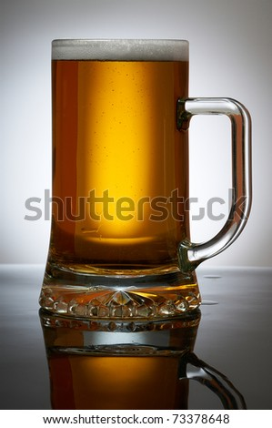 Cold Beer in glass