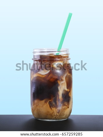 Cold Brew Coffee With Cream #657259285