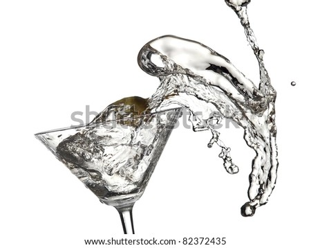 Cold cocktail splash