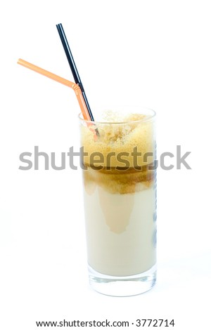 cold coffee isolated on white