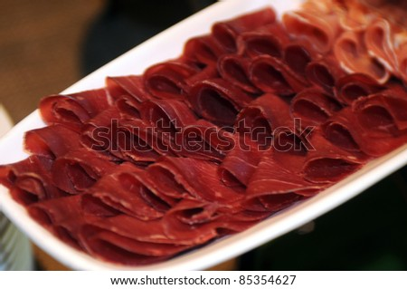 cold cuts meat plate