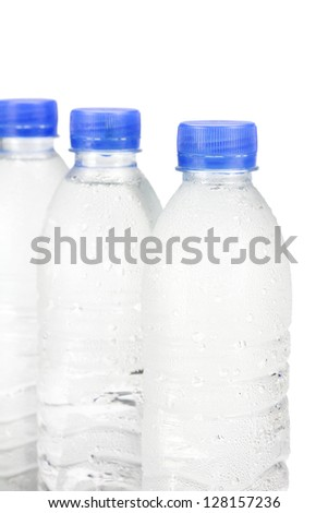 Cold drinking water ,isolated on white background