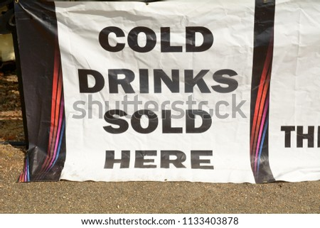 Cold Drinks Sold Here sign #1133403878