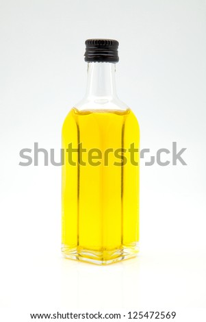 Cold Embedded olive oil in a bottle