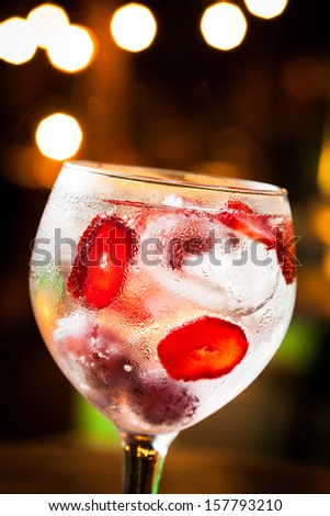 Cold Gin Tonic ready to drink. #157793210