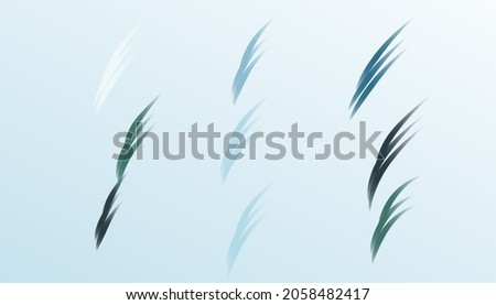 Cold green and blue herbal abstract background with elegant green strokes. The concept of choosing colours colors. Simple aesthetic. Minimal wallpaper
