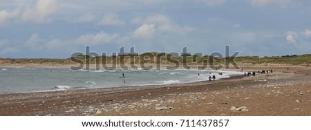 Cold Hawaii, beach of Klitmoller, Denmark. #711437857