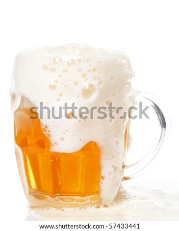 Cold lager beer