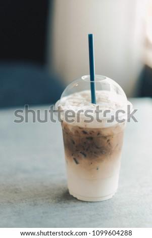 Cold latte coffee #1099604288