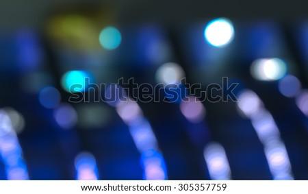 COLD LIGHT BACKGROUND, BLUE BOKEH LIGHTS