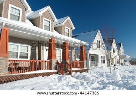 Cold Minnesota Winter Neighborhood