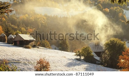 Cold morning in the mountains