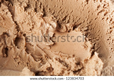 Cold Organic Chocolate ice Cream against a background