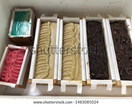 Cold process handmade soap. Handmade soap. Herbs soap.