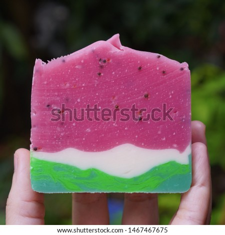 Cold process soap. Handmade soap.