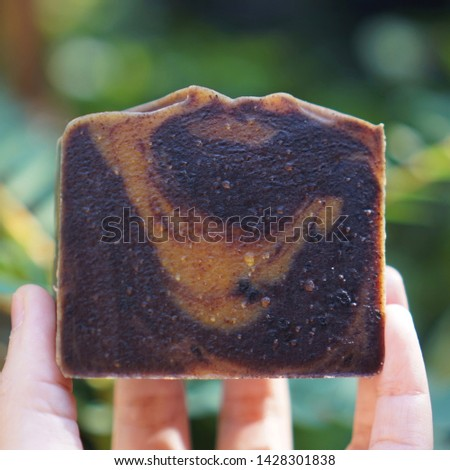 Cold process soap. Herbal soap.