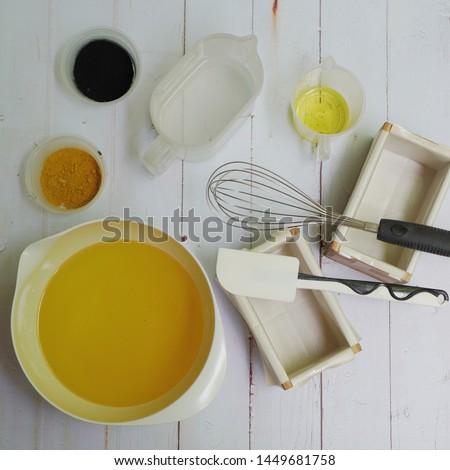 Cold Process Soap making. Handmade soap.