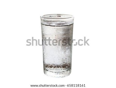 Cold water in the glass  isolated on white background #658118161