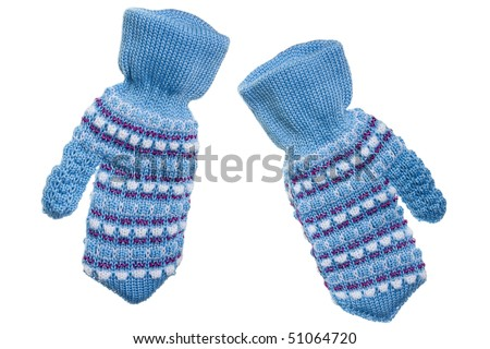Cold winter season wool clothing human hand mitten