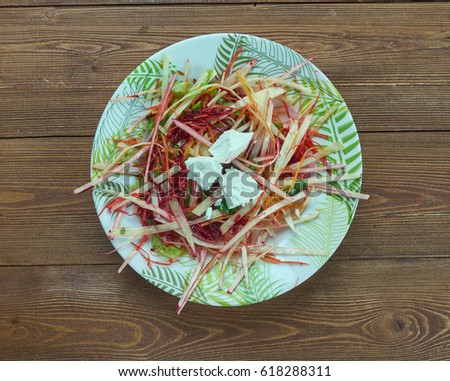Coleslaw with beets. close up Stockfoto ©