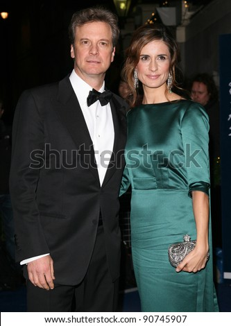 Colin Firth and Livia Giuggioli arriving for the 2011 British Fashion Awards, at The Savoy, London. 28/11/2011 Picture by: Alexandra Glen / Featureflash - stock photo