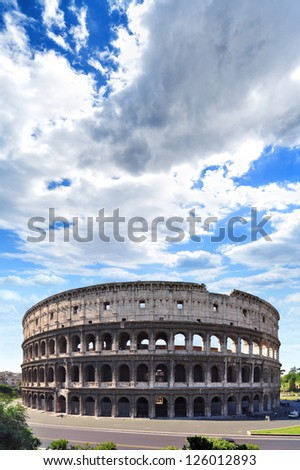 Coliseum from the Roman Empire, in Rome Italy