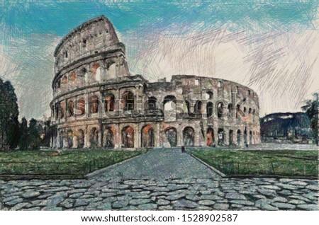 Coliseum in Rome, Italy, Italia