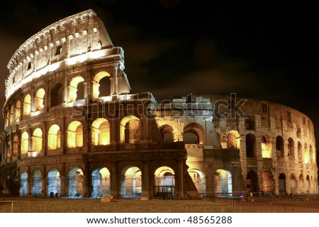 coliseum in the night