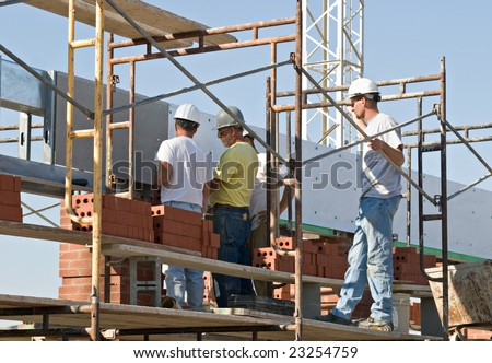 Collaborative Inspection, Workers on Scaffolding