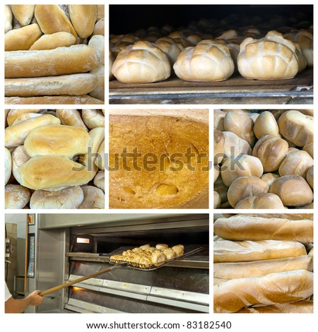 collage about bread theme