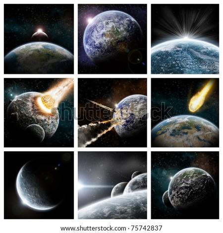 Collage apocalypse - stock photo