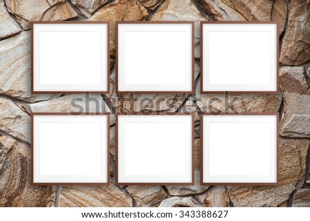 Free photos Six empty picture frames and a white background   Avopix.com
