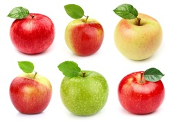 Collage from apples