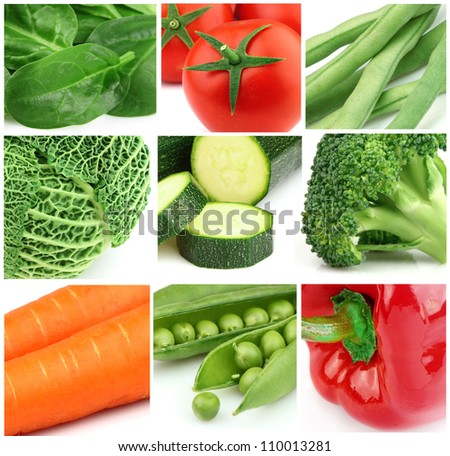 Collage from fresh vegetables