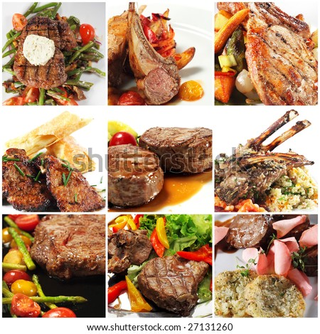 Мясные блюда - Страница 2 Stock-photo-collage-from-photographs-of-hot-meat-dishes-27131260