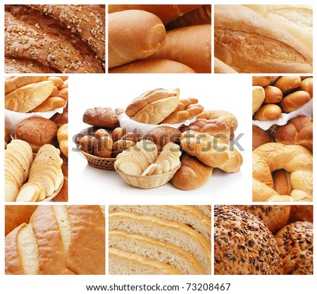 Collage from the various bread