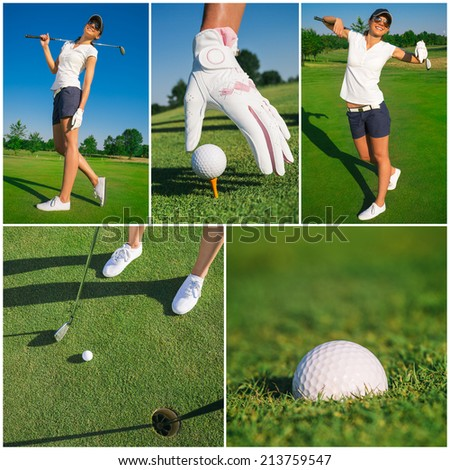 Collage Golf sport