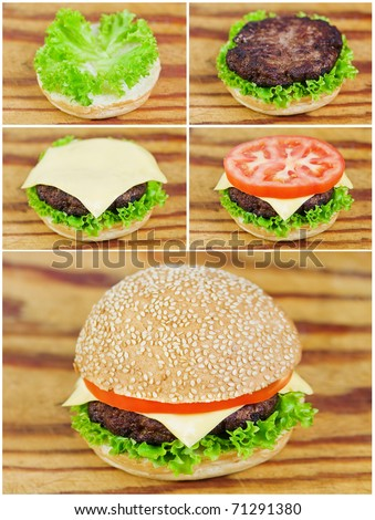 collage how to do the hamburger