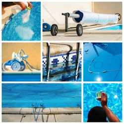 collage maintenance of a private pool