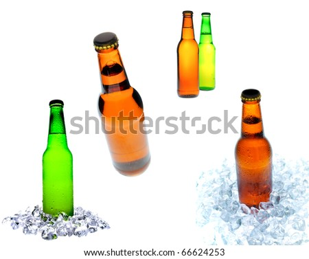 collage of beer bottle