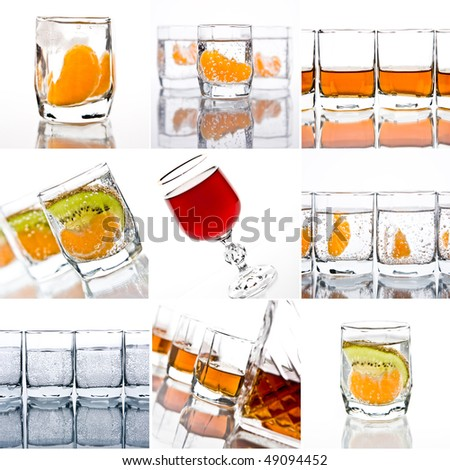 collage of cocktails on a white background