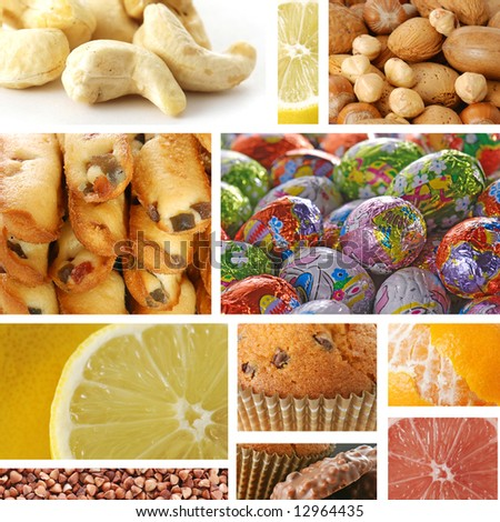 Collage Of Delicious Food Stock Photo 12964435 : Shutterstock